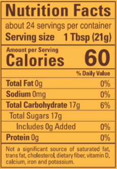 Nutrition information 50+ 500g