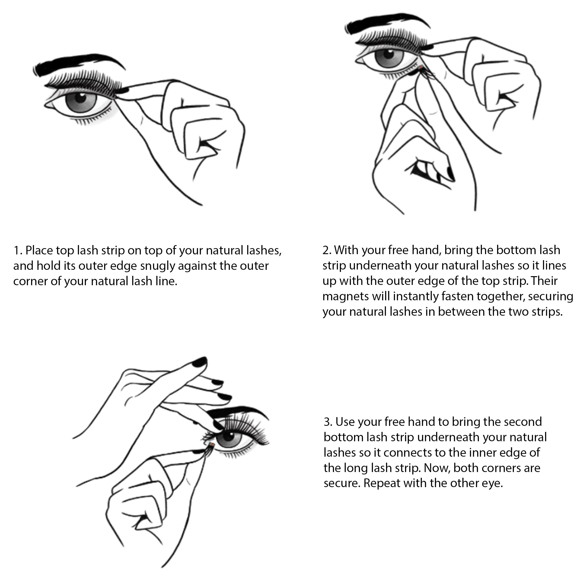 how to apply magnetic lashes lash'd up