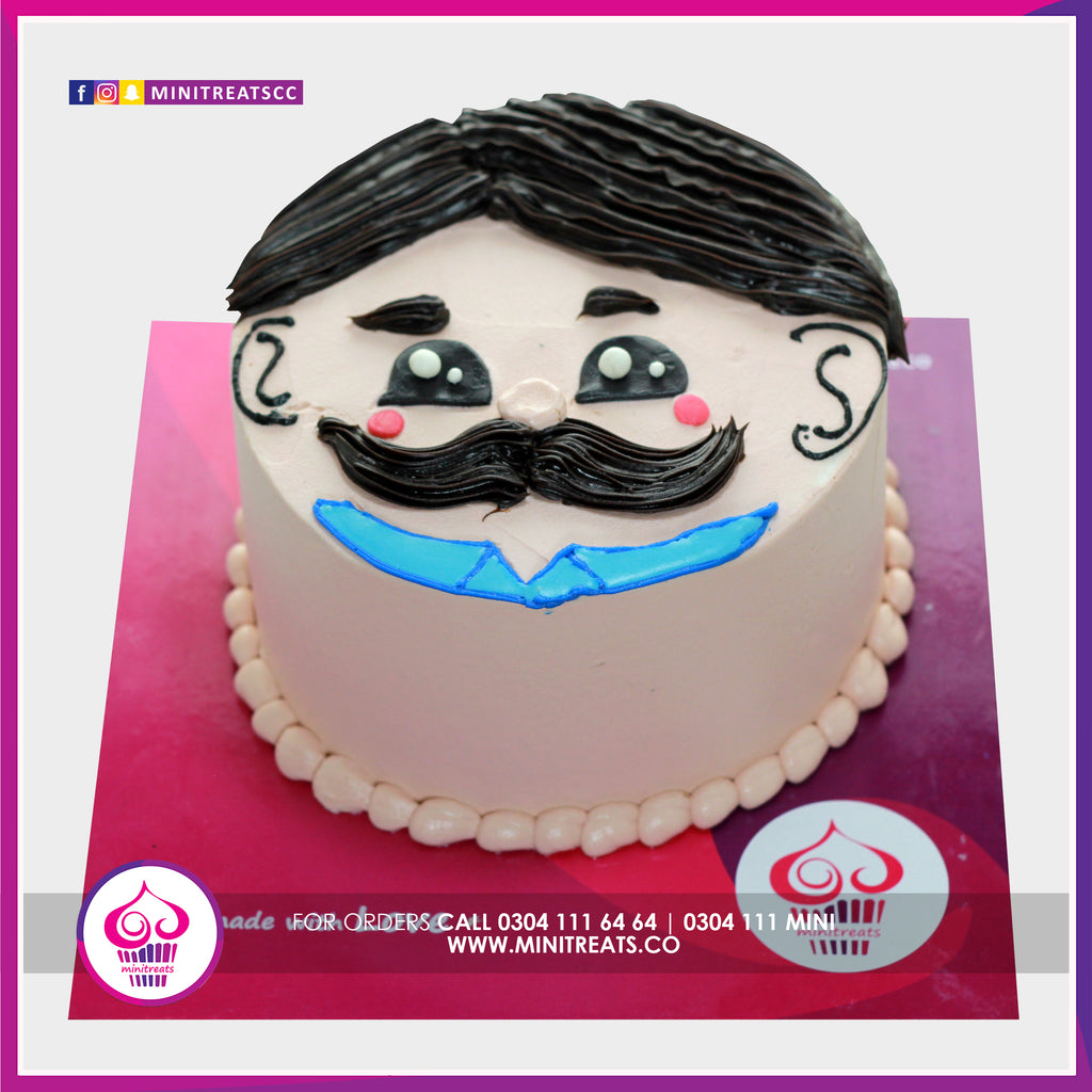 Daddy Face Cake