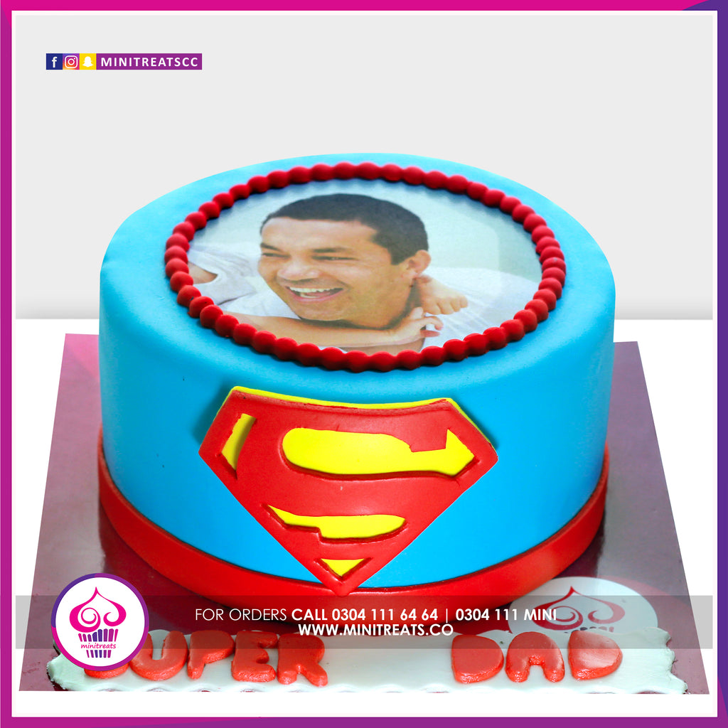 Super Hero Picture Cake