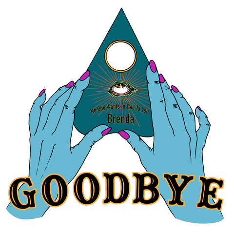 """Goodbye, Brenda"" Ouija Women's Crop Top - Detail - Goths Goths Goths"