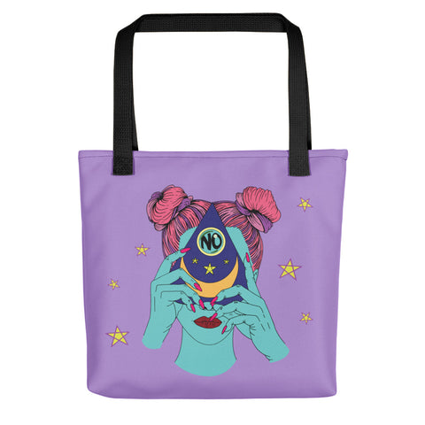 """Girl, No"" Ouija Tote Bag - Front - Goths Goths Goths"