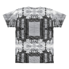 New Orleans Cemetery All-Over Print T-Shirt - Back - Goths Goths Goths