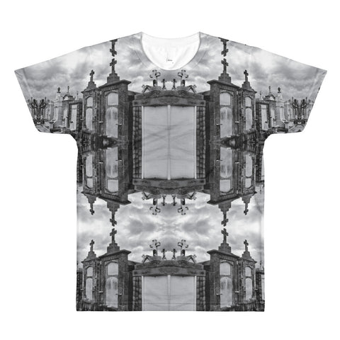 New Orleans Cemetery All-Over Print T-Shirt - Front - Goths Goths Goths
