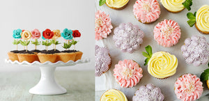 12 Gorgeous Flower-Shaped Recipes & Desserts for Springtime - The Flower Cupcakes are Crazy!