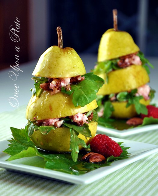 Stacked pear salad