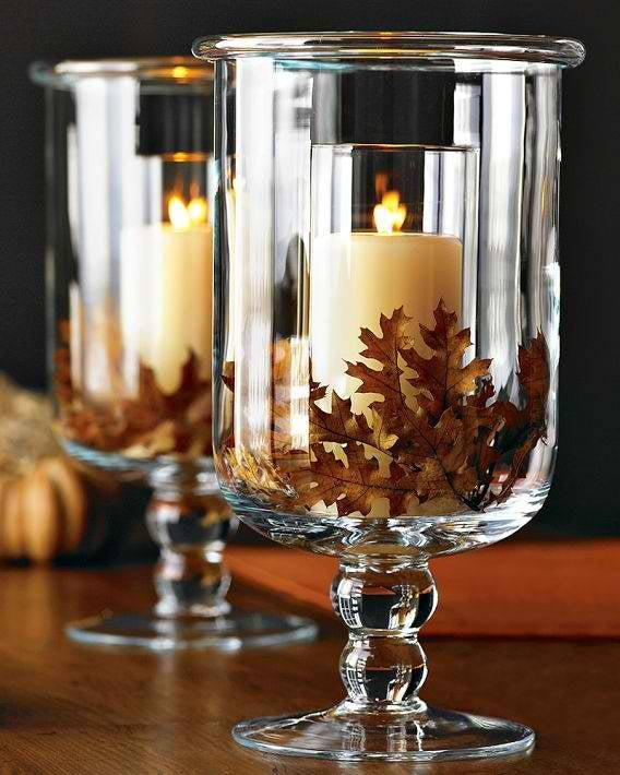 Leaf candle holders
