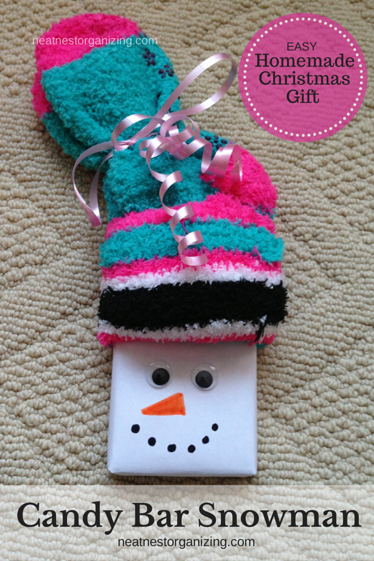 Stocking stuffers for kids Christmas snowman candy bar wrapper