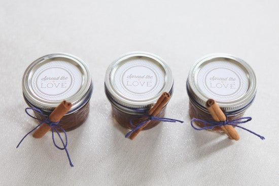 Apple butter party favor jars