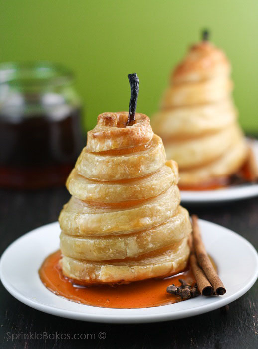 Honeyed pear dessert
