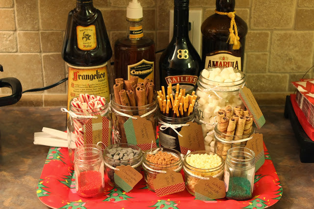 Adult hot chocolate bar