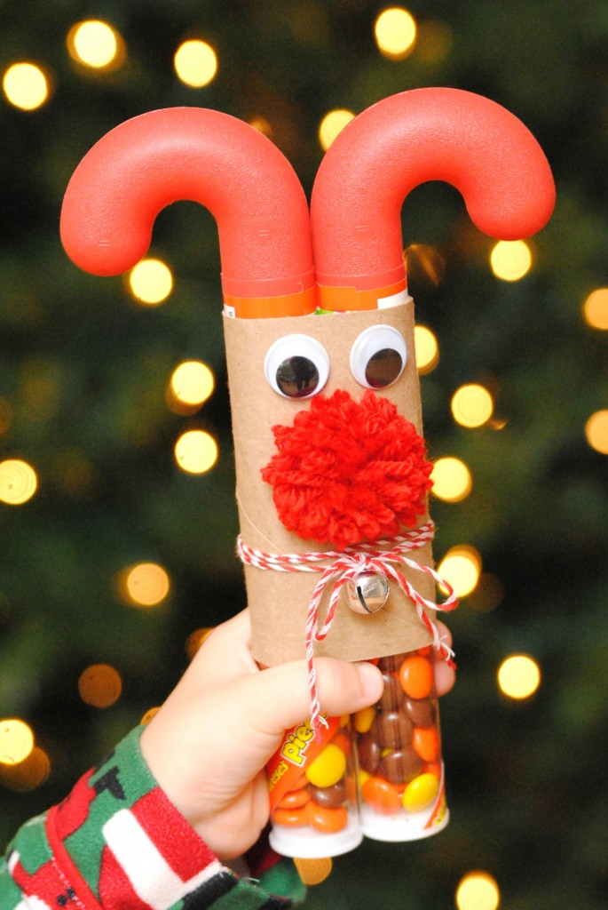 DIY stocking stuffers for kids reindeer candy canes