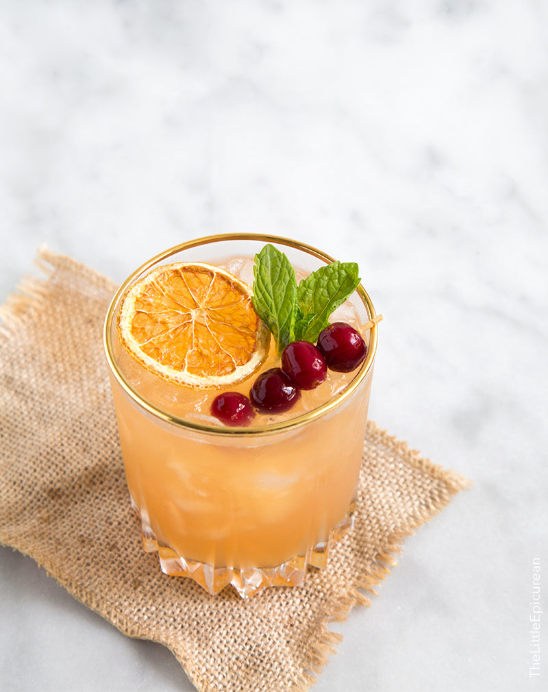 Cranberry bourbon cocktails