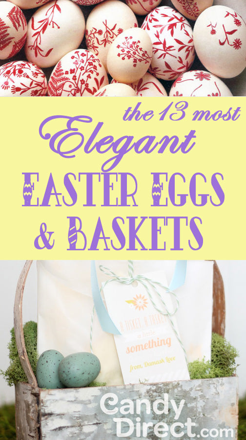 Most elegant Easter eggs and Easter baskets