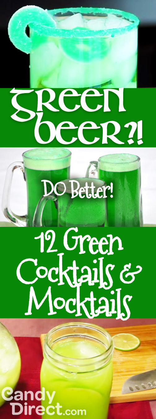 Green Cocktails and Mocktails that are better than Green Beer