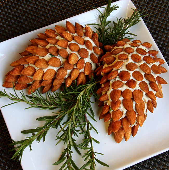 Pinecone cheese ball appetizer
