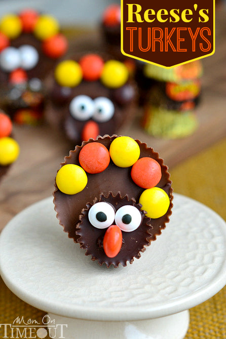 Reese's Peanut Butter Cups Turkeys for Thanksgiving