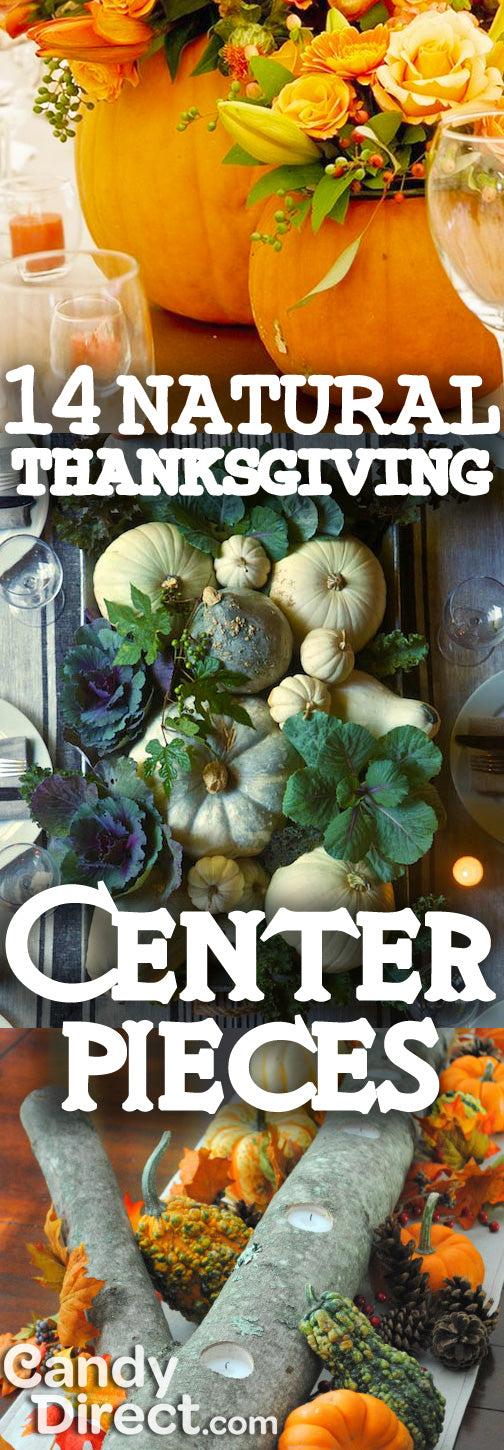 Natural Thanksgiving Centerpieces
