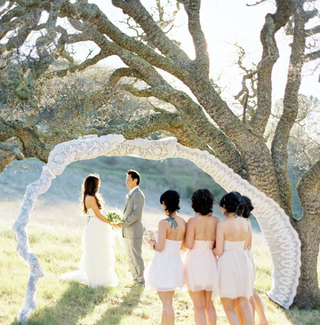 Diy Backyard Wedding Ideas: DIY Romantic Outdoor Wedding Backdrops