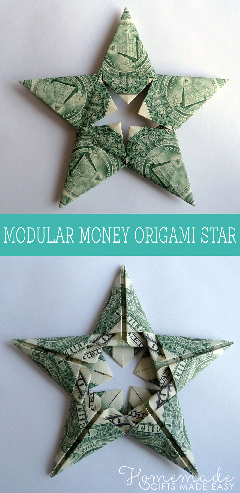 Origami money stocking stuffer for men for Christmas