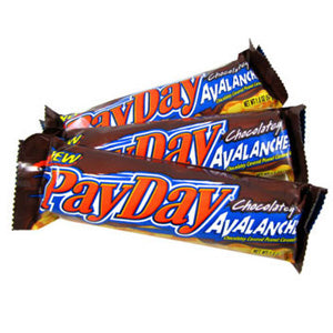 Chocolate Pay Day Bars - 24ct