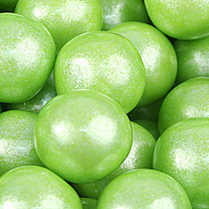 Lime Green Shimmer Bubble Gum Balls - 2lb