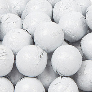 White Milk Chocolate Balls - Foil 10lb