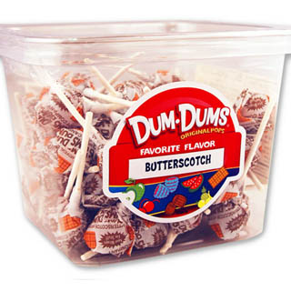 Dum Dum Pops - Butterscotch 1lb Tub