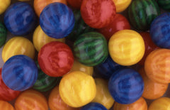 Beach Ball Bubble Gum Balls - 850ct