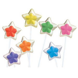 Two-Tone Star Twinkle Pops - 120ct