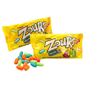 Zours Chewy Sour Fruit Candies - 24ct