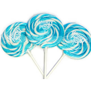 Blue & White Whirly Pops - 60ct