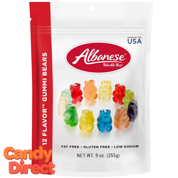 12-Flavor Gummy Bears 9oz - 6ct Peg Bags