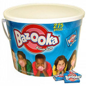 Bazooka Bubble Gum Original - 275ct Tub