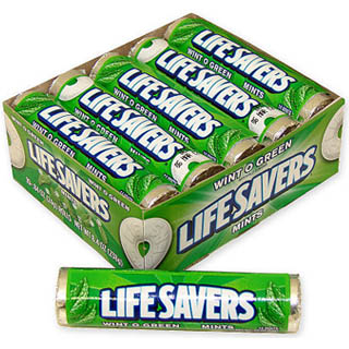 Wintogreen Lifesavers Rolls - 20 Rolls