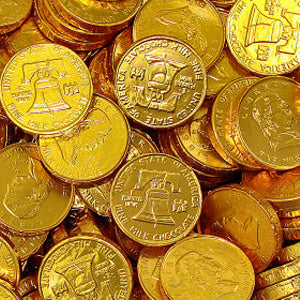 Gold Foiled Wrapped Chocolate Coins - Half Dollars | Bulk ...