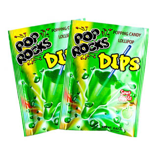 Pop Rocks Dips Sour Apple - 18ct