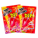 Pop Rocks Dips Sour Strawberry - 18ct