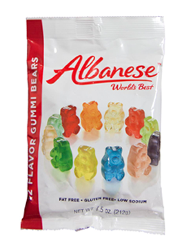 12 Flavor Gummi Bears 7.5oz Peg Bag - 12ct