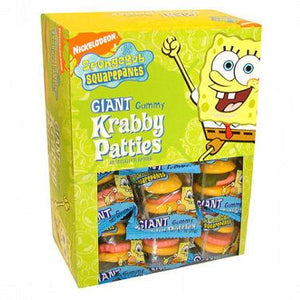 Spongebob Squarepants Giant Gummy Krabby Patties - 36ct