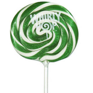 Green & White Whirly Pops - 24ct