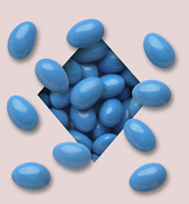 Blue Jordan Almonds - Milk Chocolate 5lb