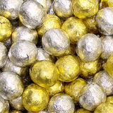 Gold & Silver Chocolate Marbles - Foil Wrapped 5lb Bag