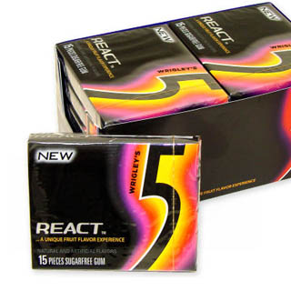 Wrigley's 5 Gum - React 2 Fruit 15-Stick 10ct