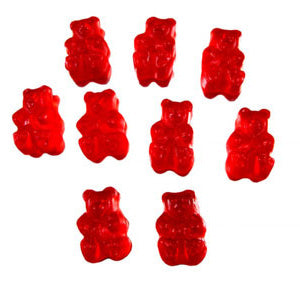 Raspberry Gummi Bears - 5lb