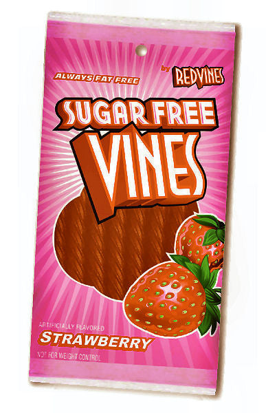 Sugar Free Vines Licorice - Strawberry Twists 12ct