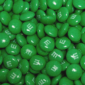 Dark Green M&M's - Milk Chocolate 5lb