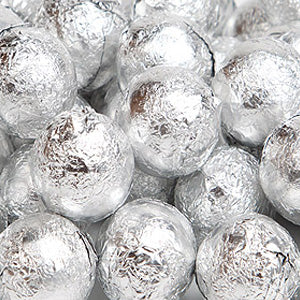Silver Milk Chocolate Balls - Foil 10lb
