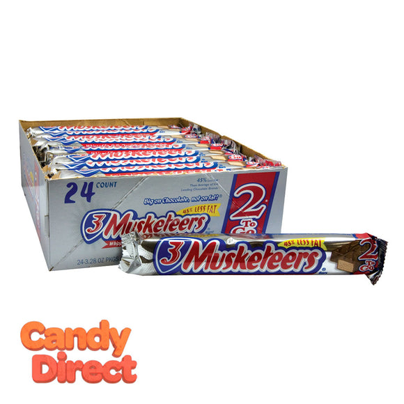 3 Musketeers Bars 3.28oz King Size - 24ct