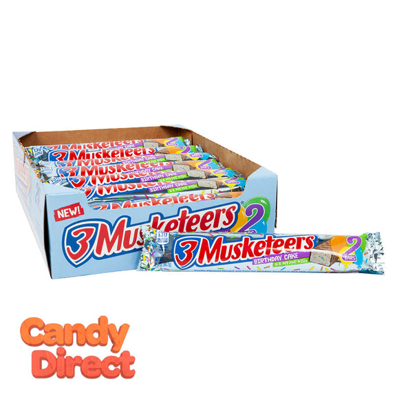 3 Musketeers Bars Birthday Cake Share Size 2.14oz - 24ct